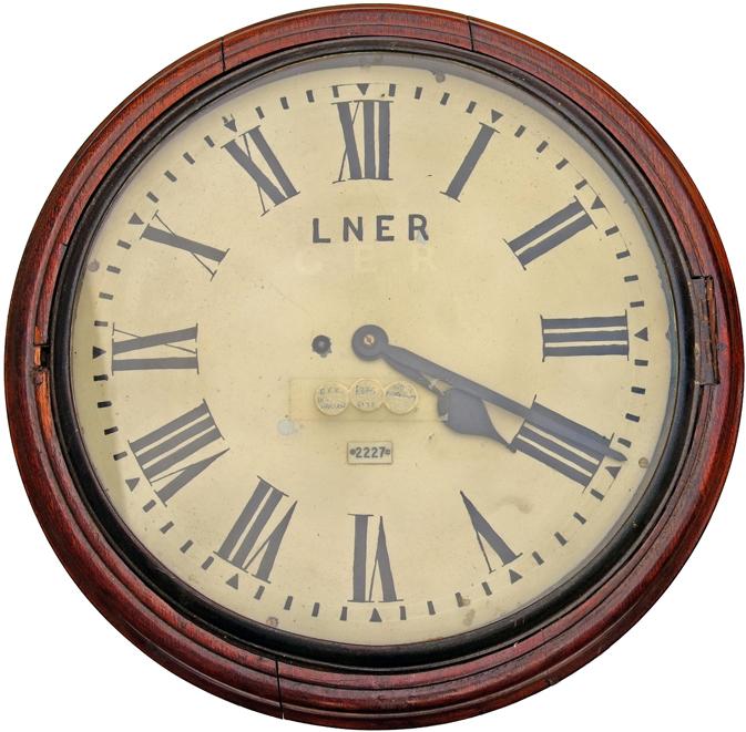 Great Eastern Railway 14 Oak Cased Fusee Dial