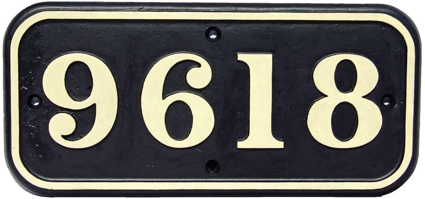 Cabside Numberplate 9618, Cast Iron Construction,