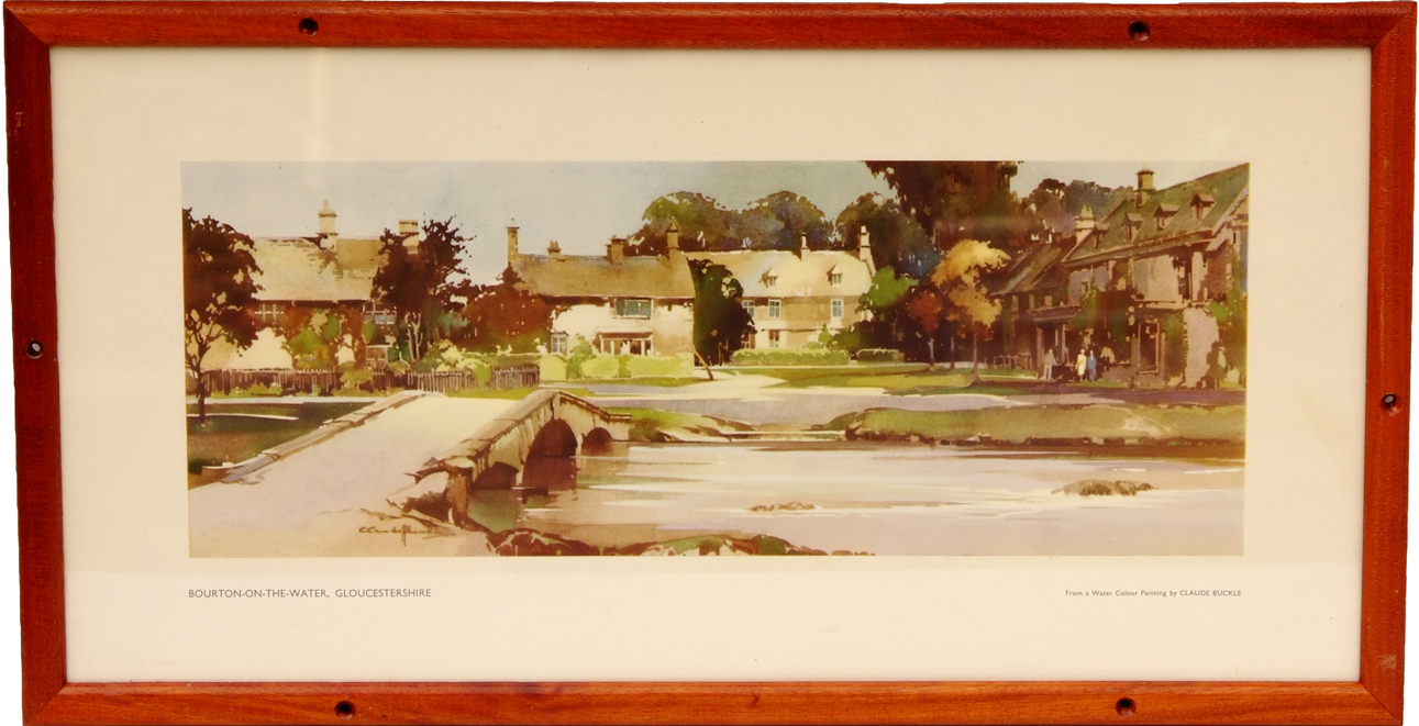 Carriage Print Bourton-On-The-Water,