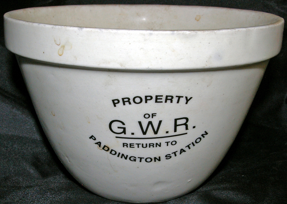 GWR China Pudding Basin With 'Property Of GWR