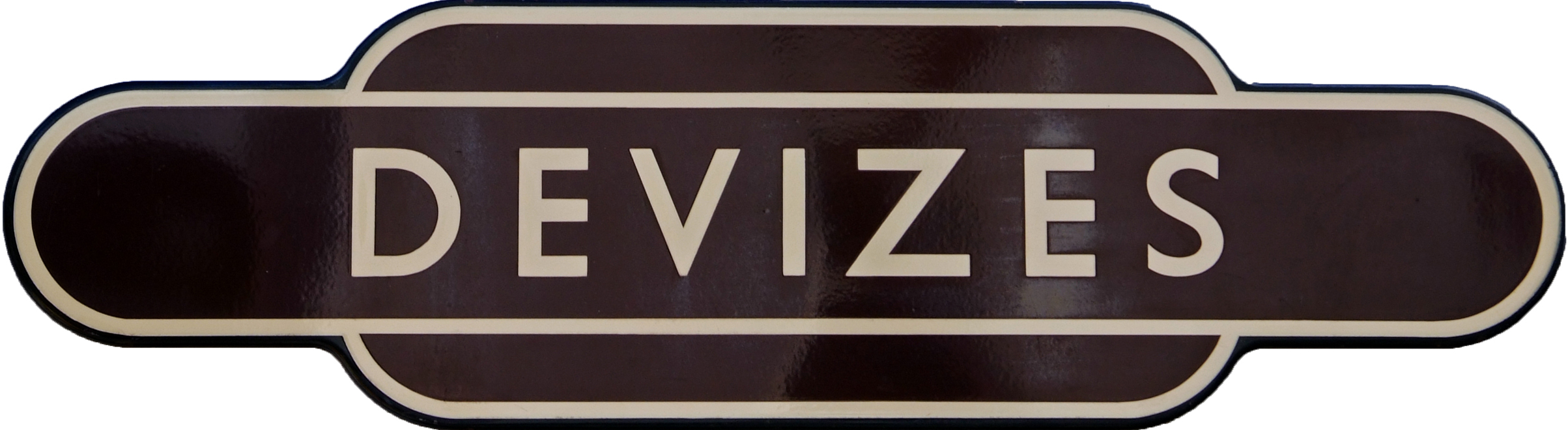 Totem, BR(W) DEVIZES, F/F. Ex GWR Station In Rural