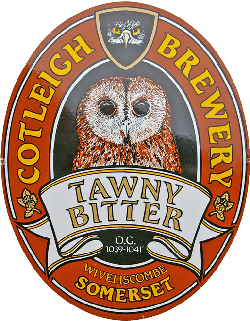 Brewery Enamel Advertising Sign, 'Cotleigh Brewery