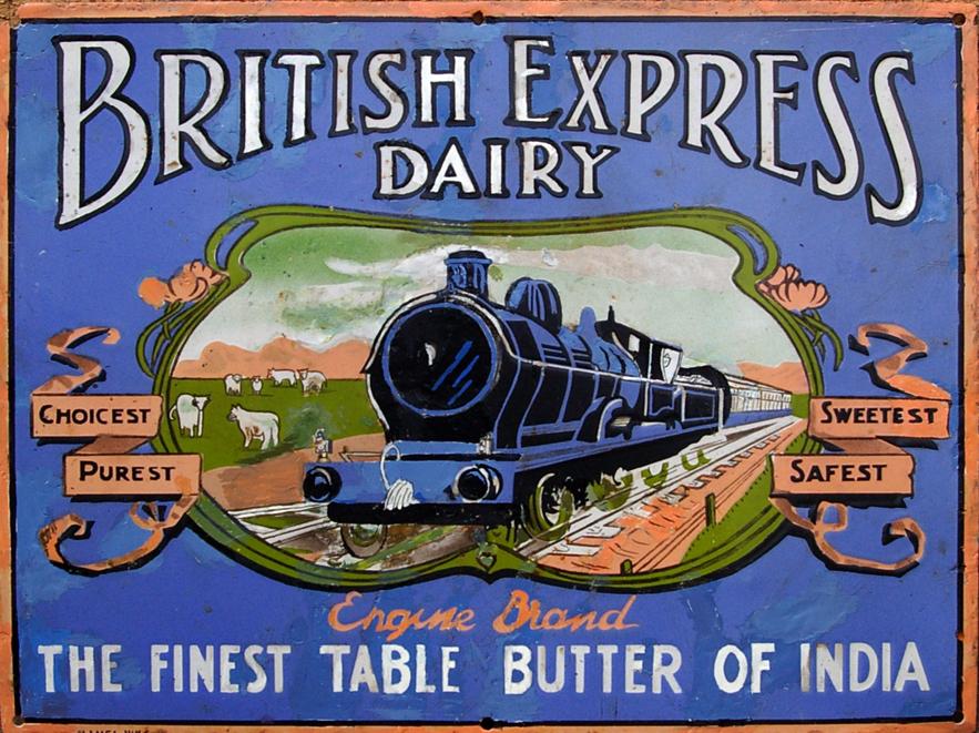 Enamel Advertising Sign, 'British Express Dairy -