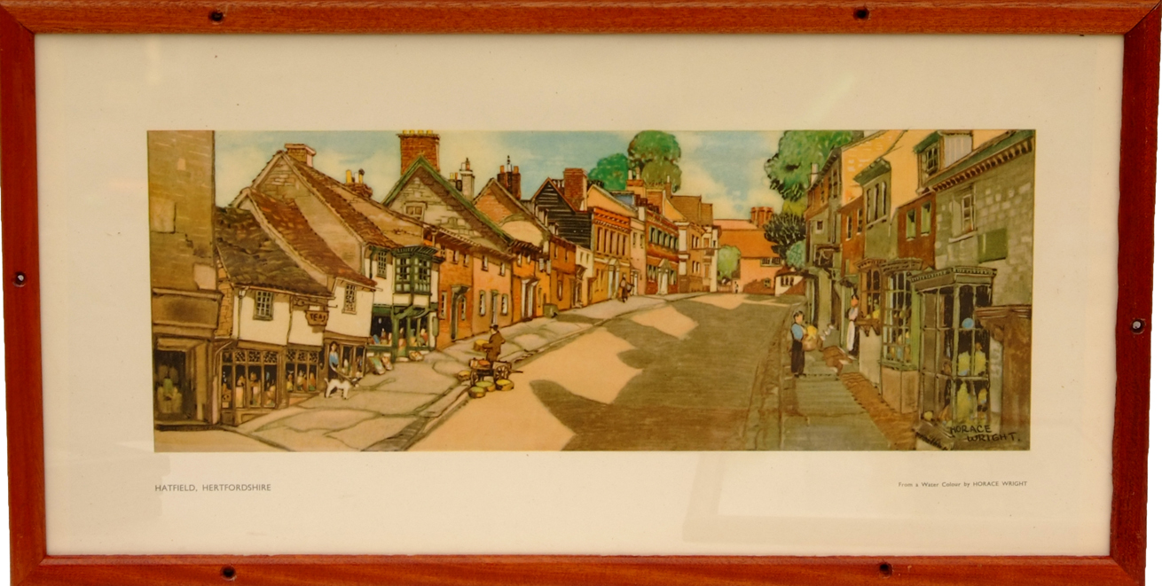 Carriage Print Hatfield, Hertfordshire By Horace