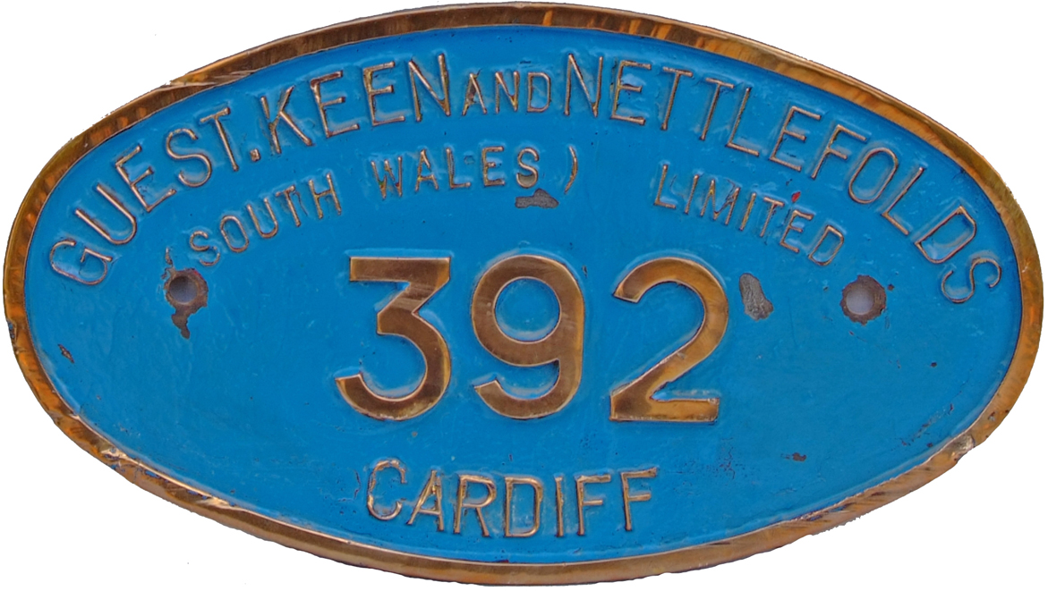 Oval Brass Numberplate Guest Keen And Nettlefolds
