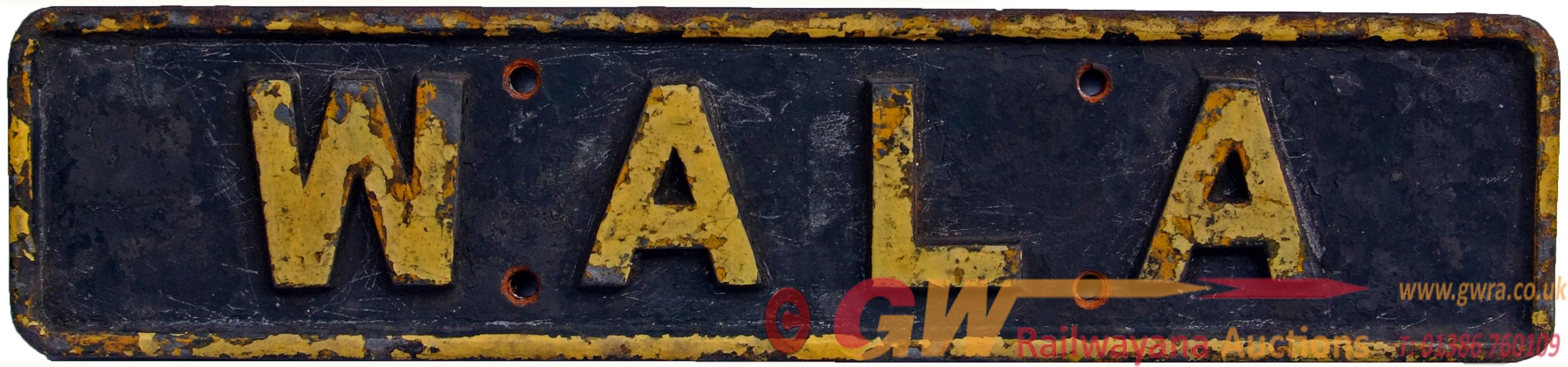 Nameplate WALA, C/I Construction, Ex Gold Coast