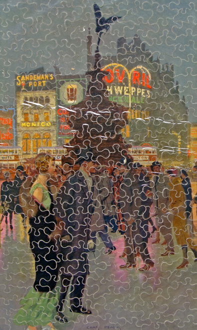 GWR Chad Valley Wooden Jigsaw, 'Piccadilly