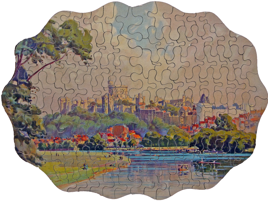 GWR Chad Valley Wooden Jigsaw, 'Windsor Castle'