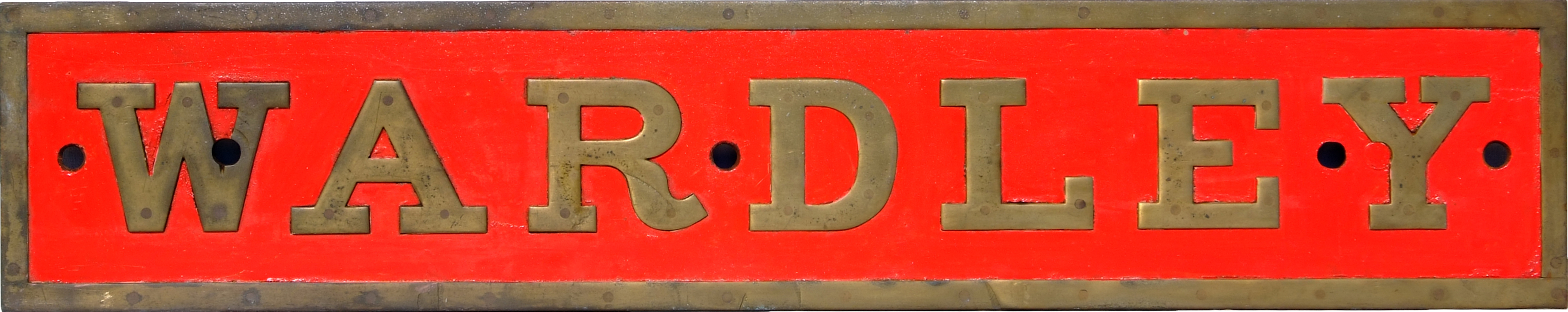 Industrial Locomotive Nameplate WARDLEY. Ex Sharp