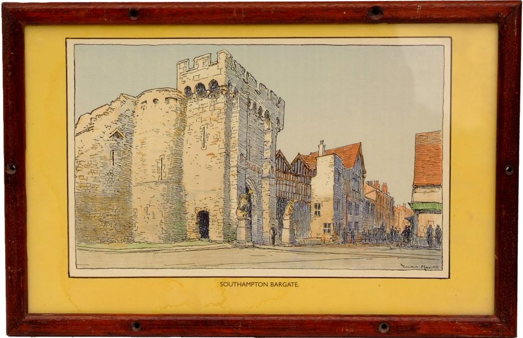 Carriage Print, SOUTHAMPTON BARGATE By Donald