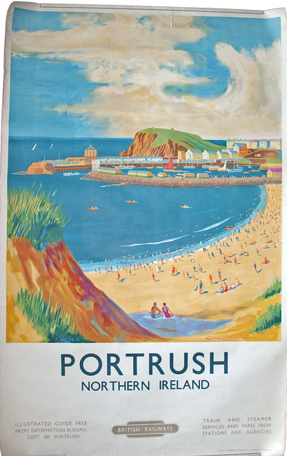 Poster, BR(M) 'Portrush, Northern Ireland' By