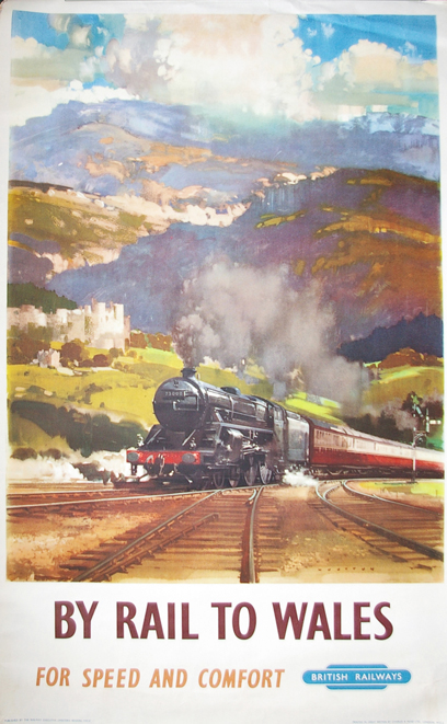 Poster, BR(W) 'By Rail To Wales By Speed And