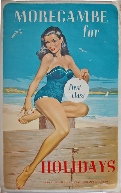 Poster, BR(M) D/R 'Morecambe For First Class