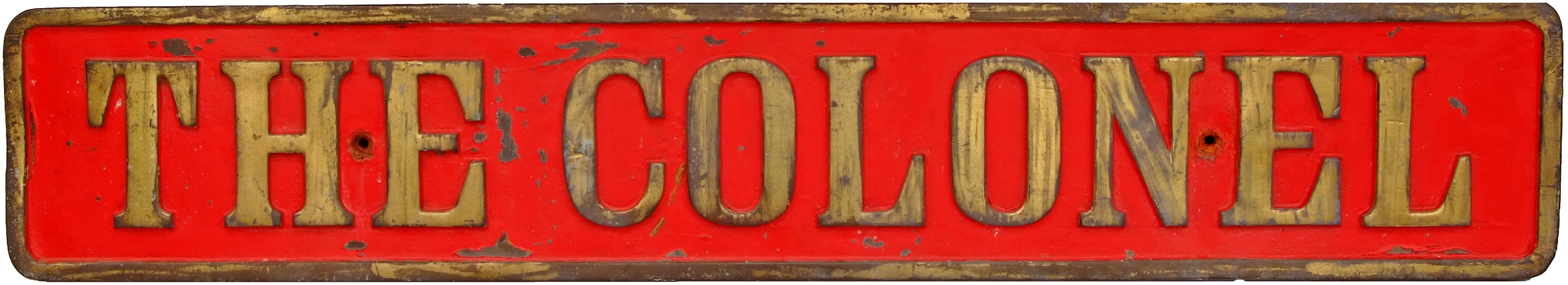 Industrial Nameplate THE COLONEL. Ex Hudswell