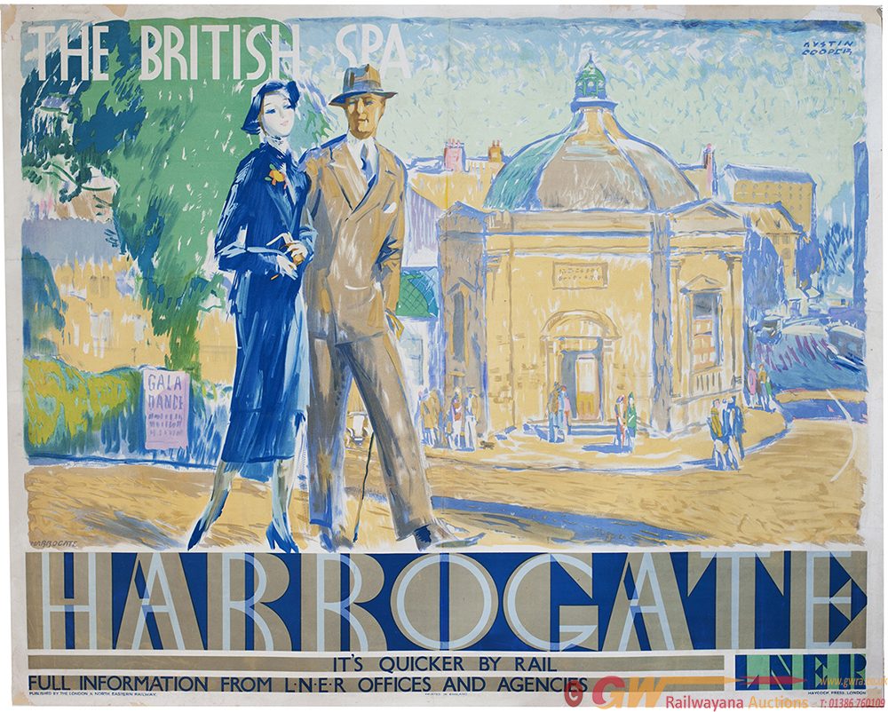 Poster LNER HARROGATE THE BRITISH SPA By Austin