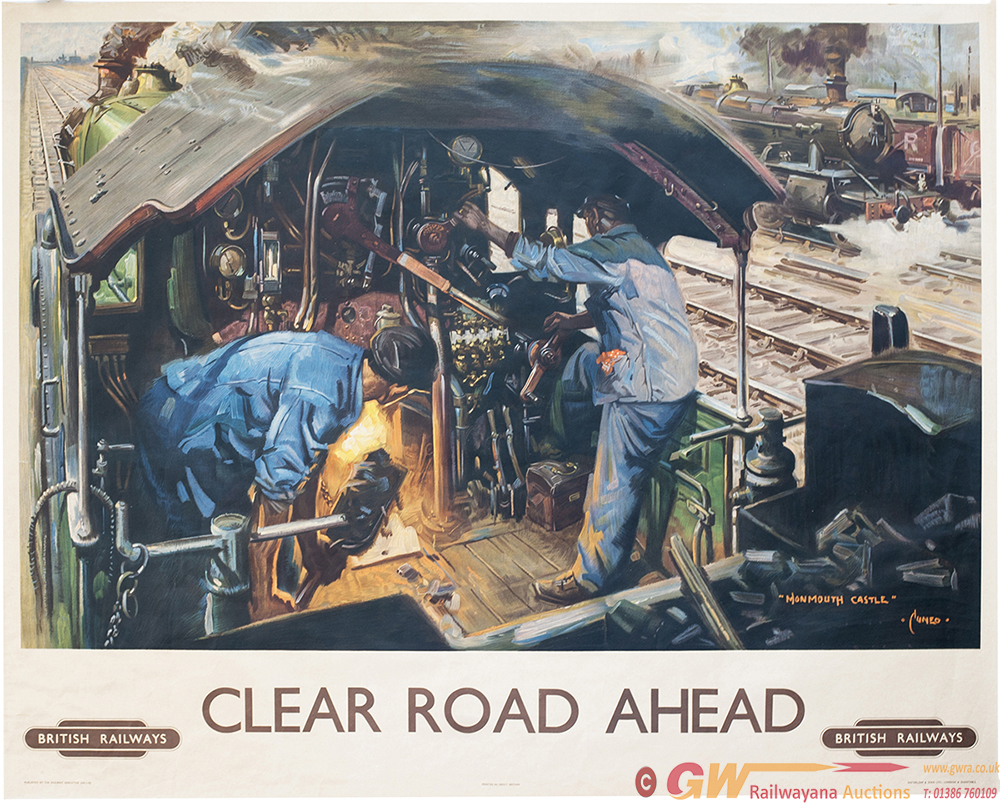 Poster BR CLEAR ROAD AHEAD By Terence Cuneo. Quad