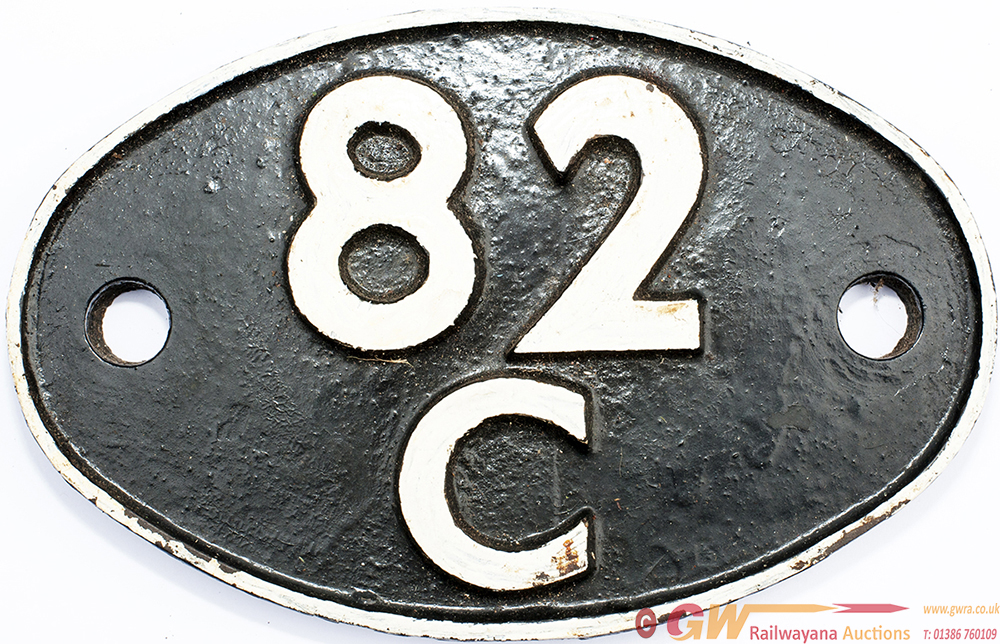 Shedplate 82c SWINDON 1950-1973 With Sub Sheds Of