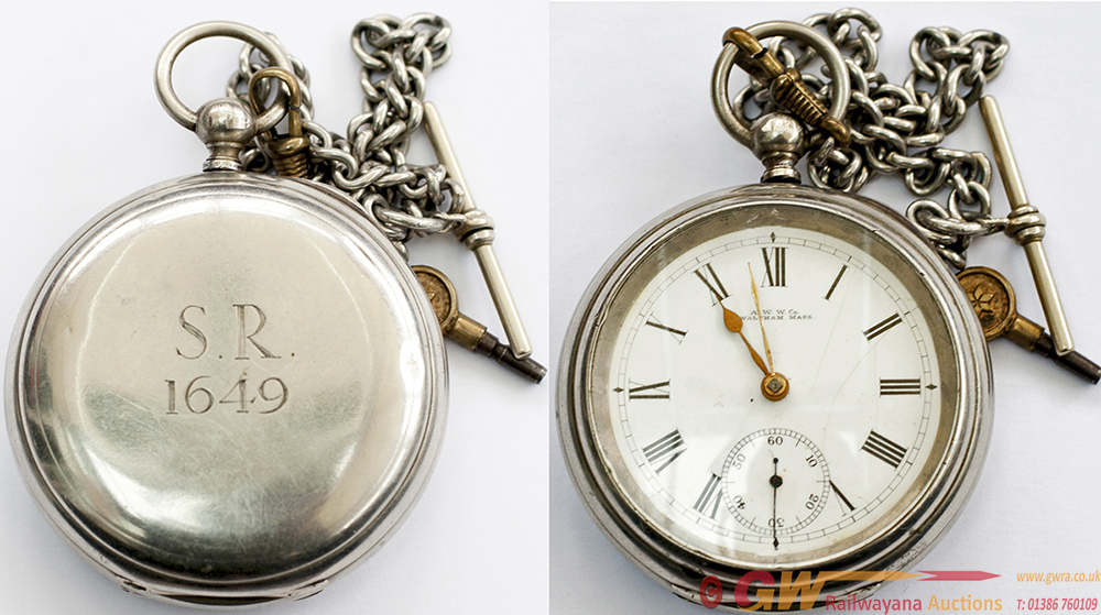 SR Pocket Watch, By The American Watch Company