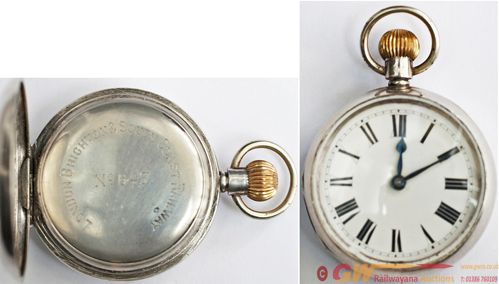 LBSCR Silver Cased Pocket Watch, By The American