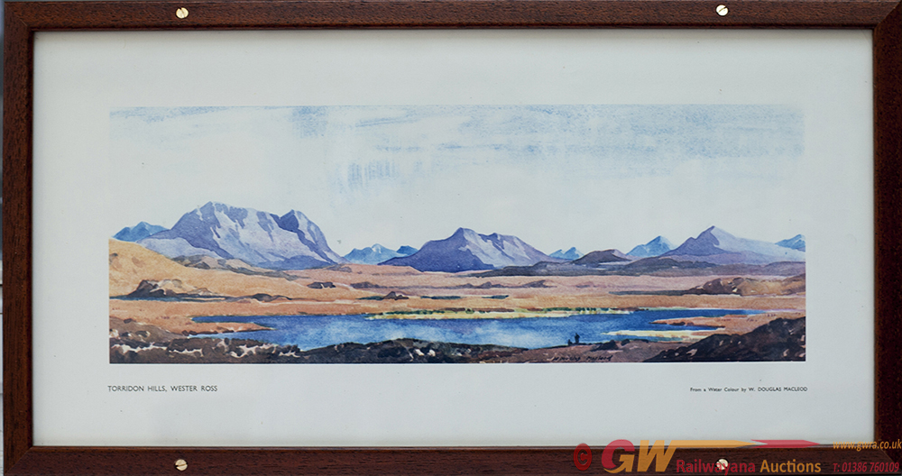 Carriage Print TORRIDON HILLS, WESTER ROSS By W
