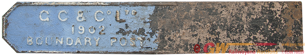 Boundary Post Cast Iron G.C & CO LTD 1902, Stands