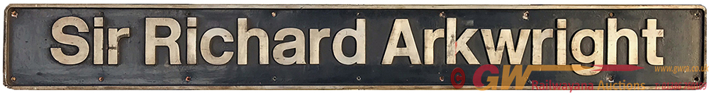 Nameplate SIR RICHARD ARKWRIGHT Ex Electric Class