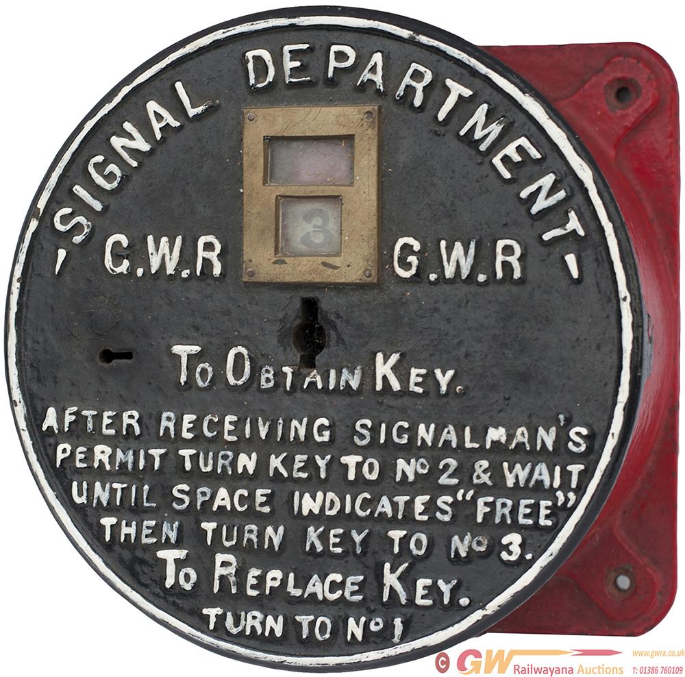GWR Circular Cast Iron Gangers Key Instrument,