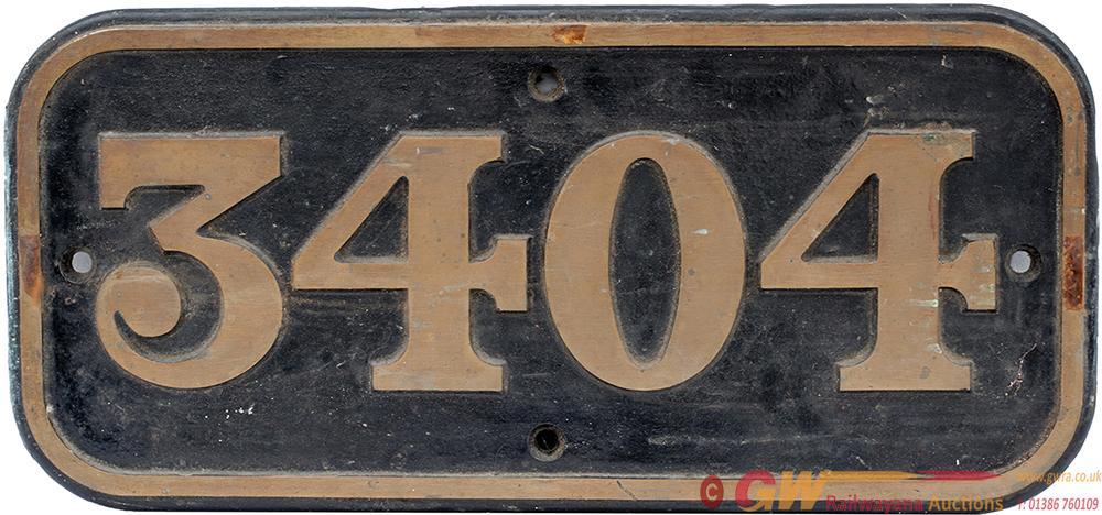 BR(W) Gunmetal Cabside 3404 Ex BR(W) 0-6-0 PT,