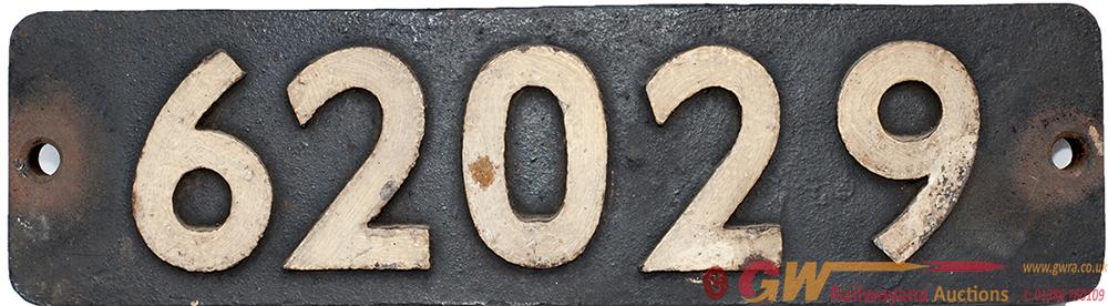 Smokebox Numberplate 62029 Ex LNER Peppercorn k1