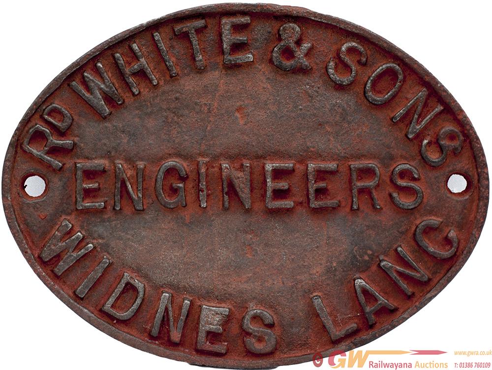 Cast Iron Bridge Makers Plate R D WHITE & SONS