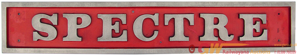 Diesel Nameplate SPECTRE, Cast Aluminium Carried