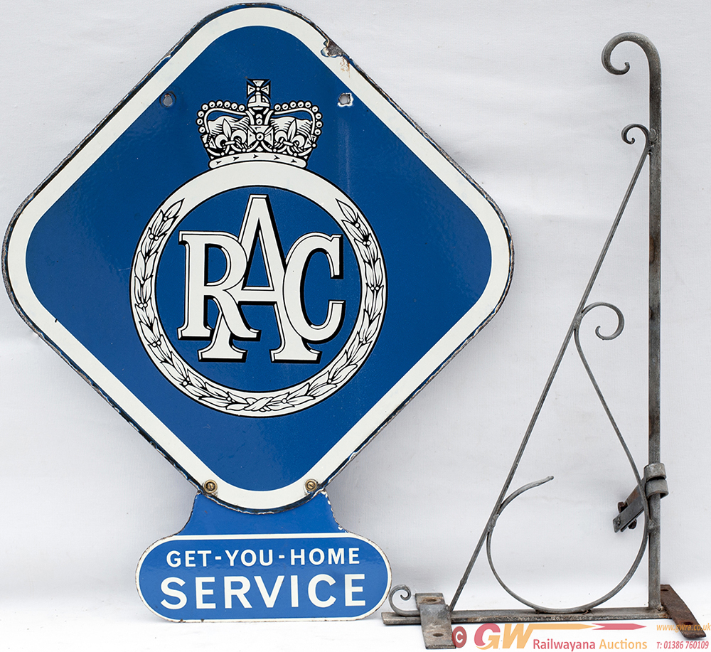 RAC Enamel Sign, Double Sided With Lower GET YOU