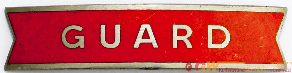 BR(NE) Nickel Fishtail Cap Badge GUARD, In