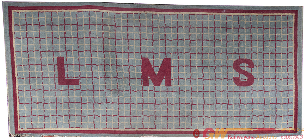 LMS Carriage Compartment Rug With LMS In The