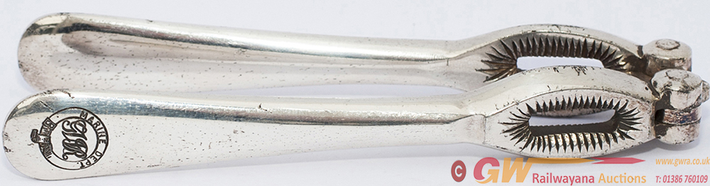 GWR Silverplate Nutcrackers Marked On Handle GWR