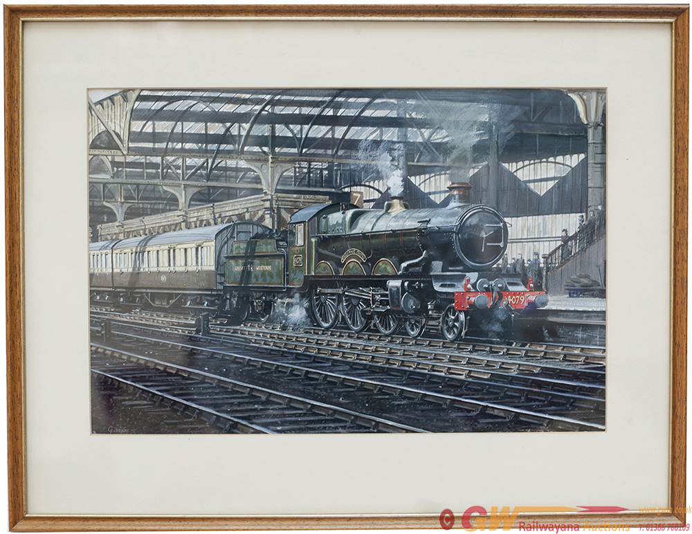 Original Watercolour Painting On Board Of GWR