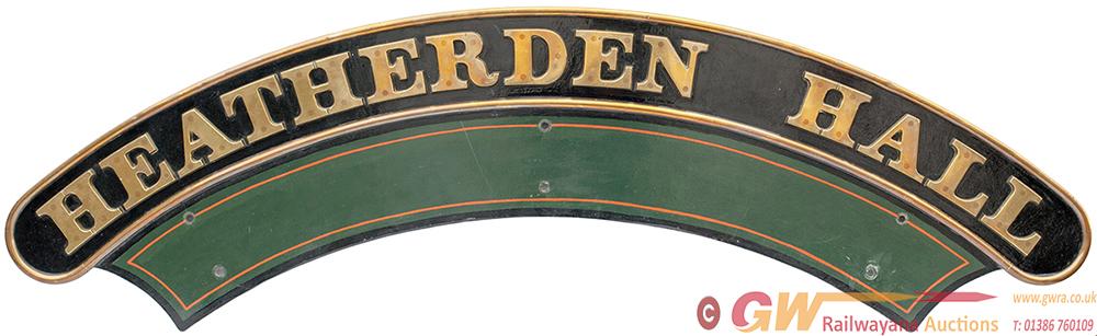 Nameplate HEATHERDEN HALL Ex GWR Hall 4-6-0 6946,