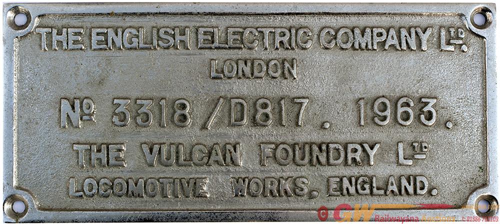 Diesel Worksplate Rectangular Chromed Brass THE