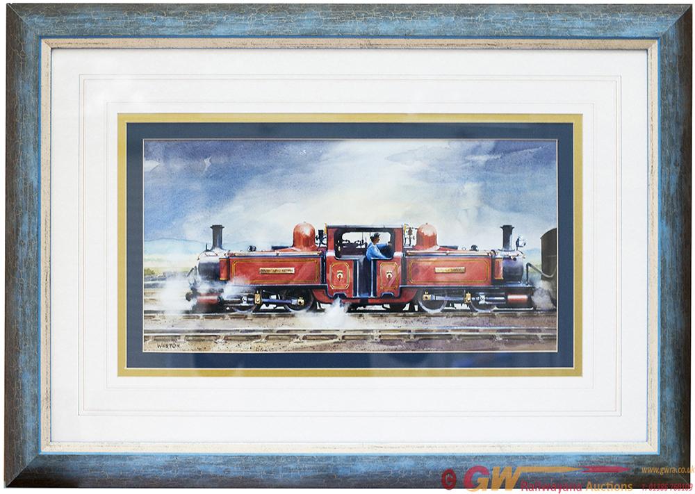 Original Watercolour Painting Of Festiniog Railway