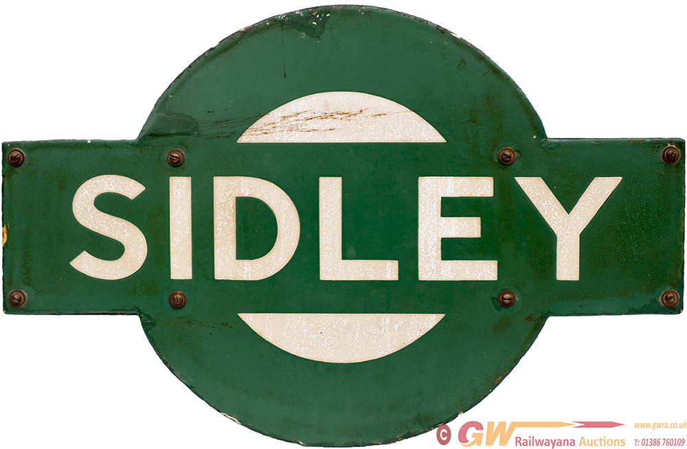 Southern Railway Enamel Target SIDLEY From The