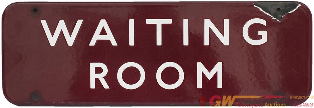 BR(M) FF Enamel Doorplate WAITING ROOM Measuring