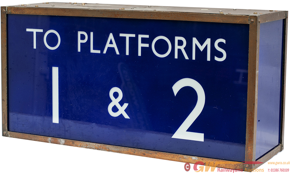 LNER Illuminated Hanging Sign WAY OUT/ TO