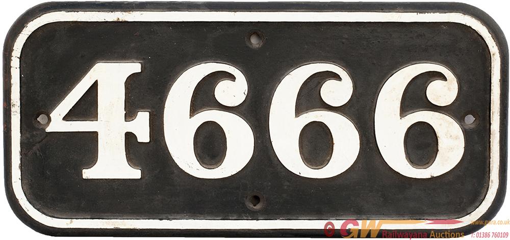 GWR Cast Iron Cabside 4666 Ex 0-6-0 PT Built At
