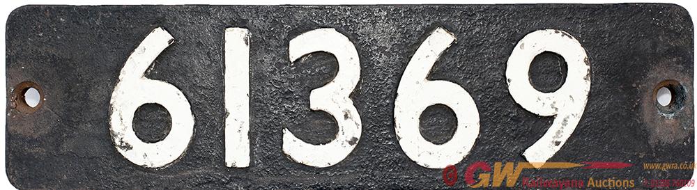 Smokebox Numberplate 61369 Ex LNER Thompson b1.