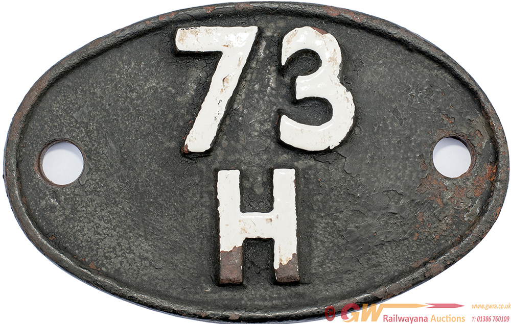 Shedplate 73h DOVER 1958-1961 With A Sub Shed Of