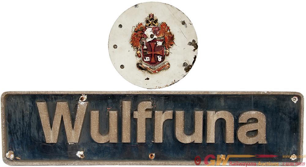 Nameplate WULFRUNA And Original Badge Ex British