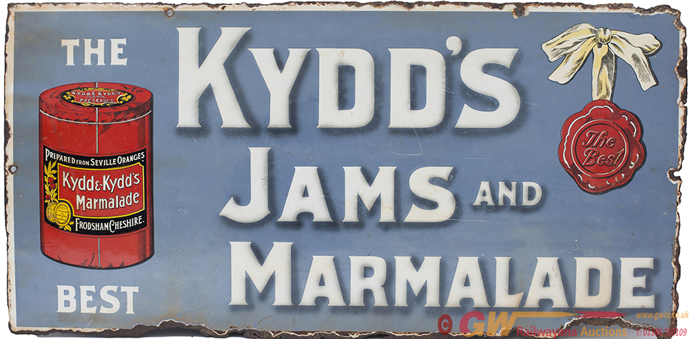 Enamel Pictorial Advertising Sign THE KYDDS JAMS