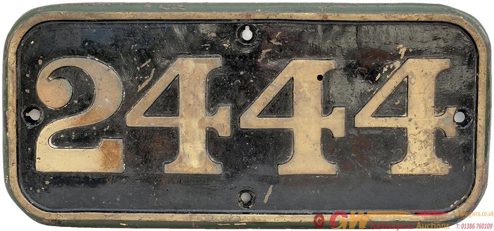 GWR Brass Cabside 2444 Ex GWR DEAN GOODS 0-6-0