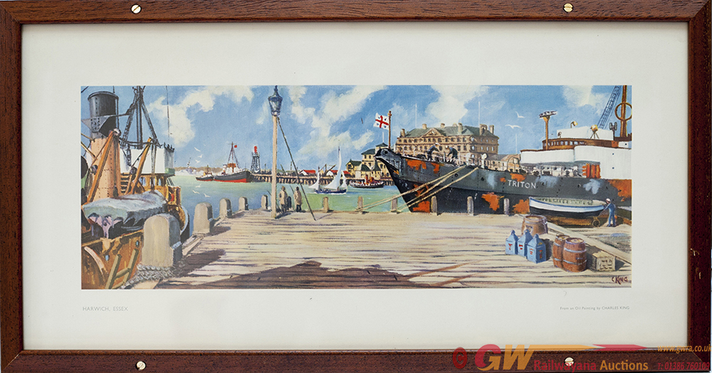 Carriage Print HARWICH, ESSEX By Charles King From