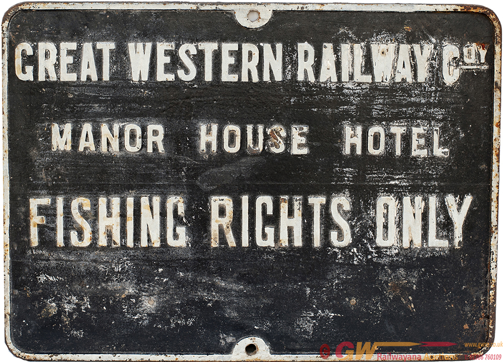 GWR Cast Iron Sign GREAT WESTERN RAILWAY COY MANOR